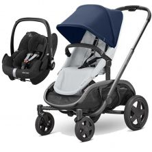 Quinny Hubb Graphite Frame 2in1 Pebble Pro Travel System-Navy/Grey