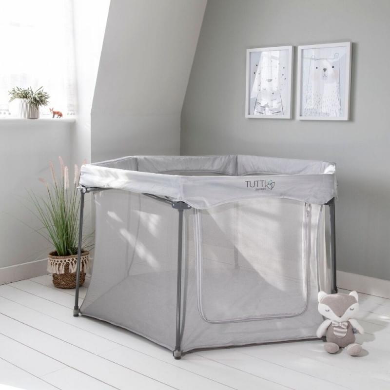 Tutti Bambini Hexa Playpen-Grey
