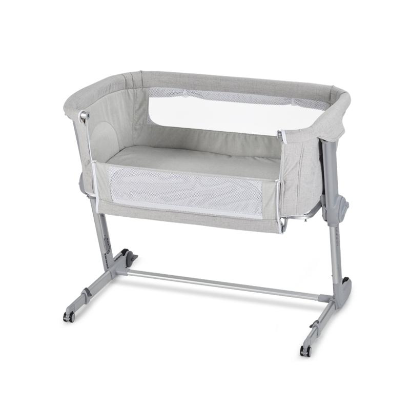 UniLove Hug Me Plus Bedside Crib-Grey
