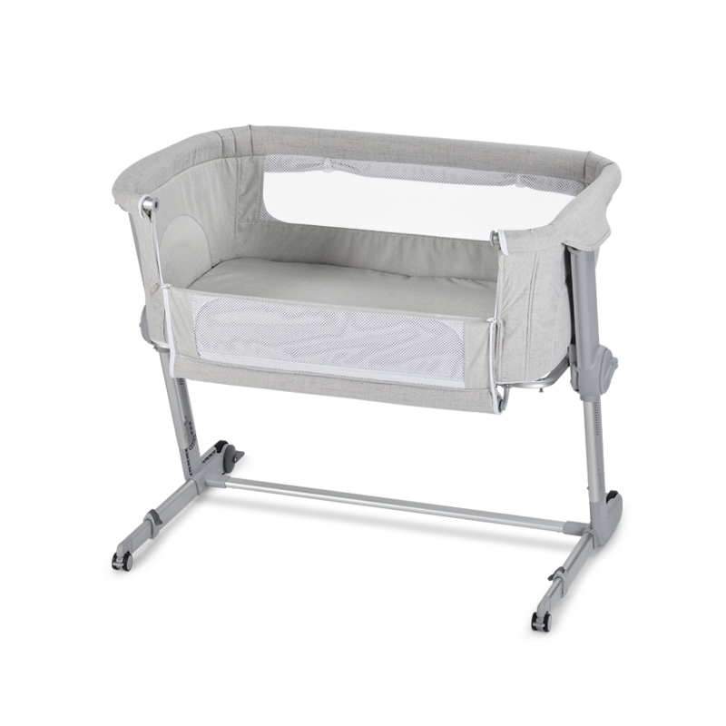 UniLove Hug Me Plus Bedside Crib-Grey Inc FREE Mosquito Net & Sheet!