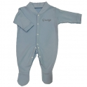 Personalised Name Baby Grow- Blue