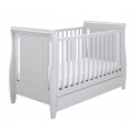 Babymore Stella Sleigh DROPSIDE Convertible Cot Bed-Grey