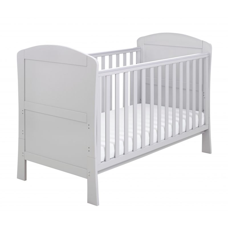 Babymore Aston DROPSIDE Cot Bed-Grey