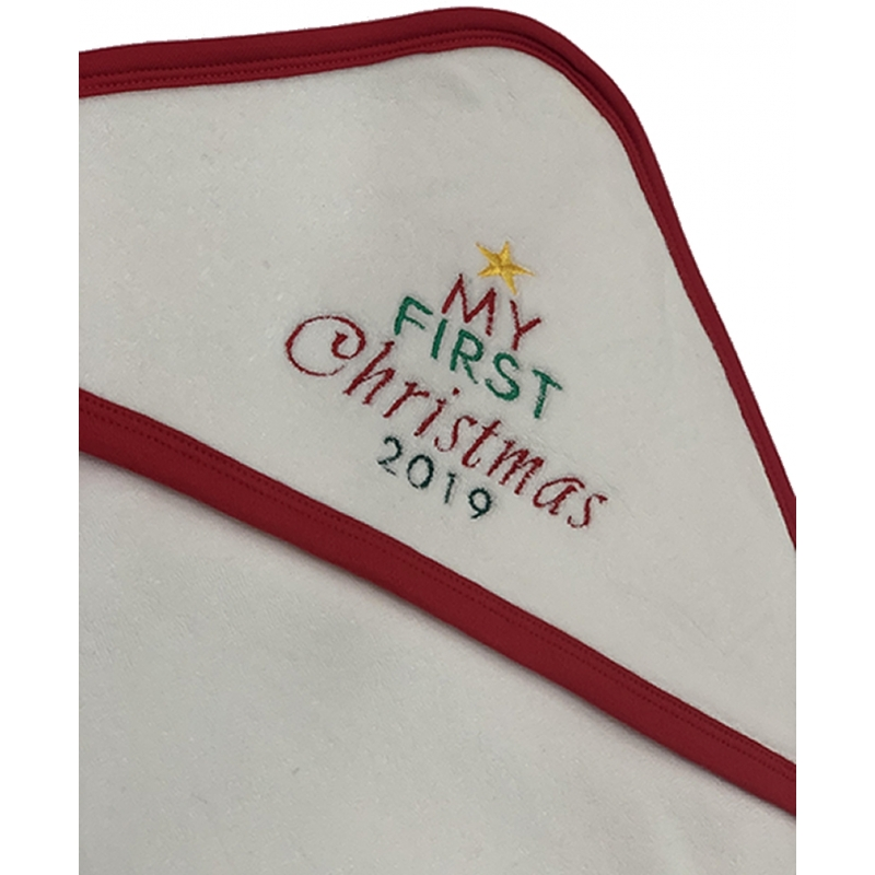 My First Christmas- Hooded Towel