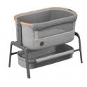 Maxi-Cosi Iora Co-Sleeper Crib-Essential Grey + FREE 2pk Organic Cotton Sheets