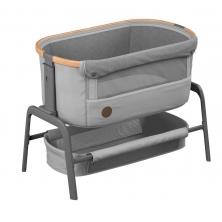 Maxi-Cosi Iora Co-Sleeper Crib-Essential Grey + Free 2 Organic Fitted Sheets
