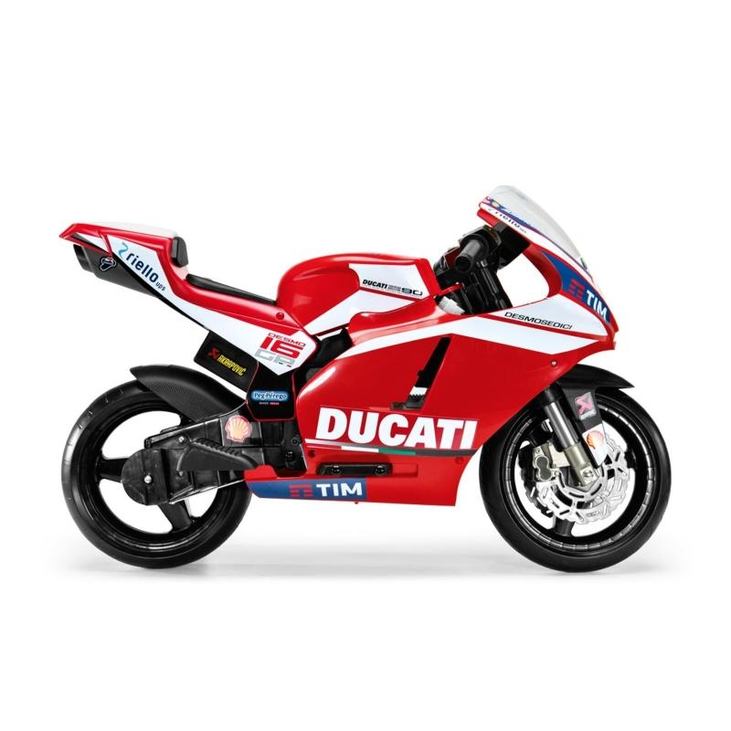 Peg Perego Ducati Desmosedici GP Electric Motorcycle- Red