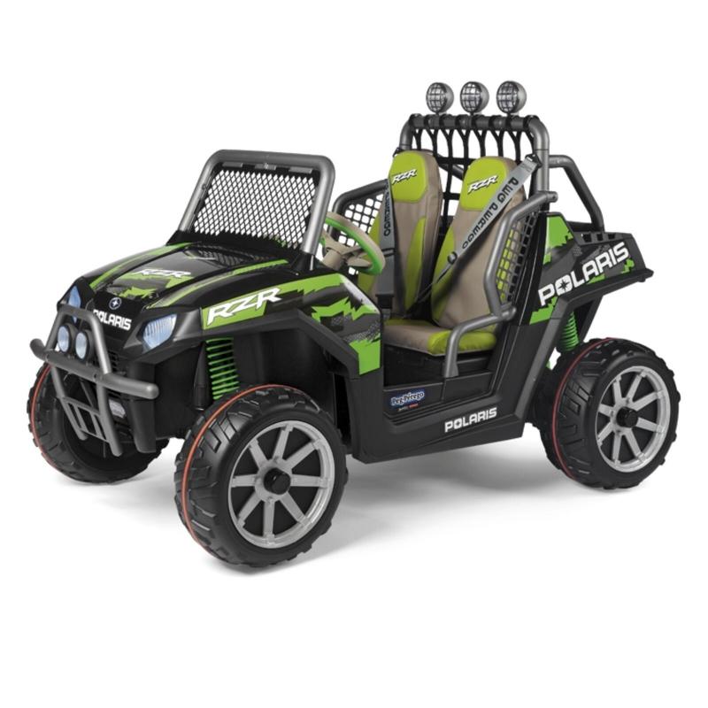 Peg Perego Polaris Ranger RZR Electric Ride On Buggy- Green Shadow