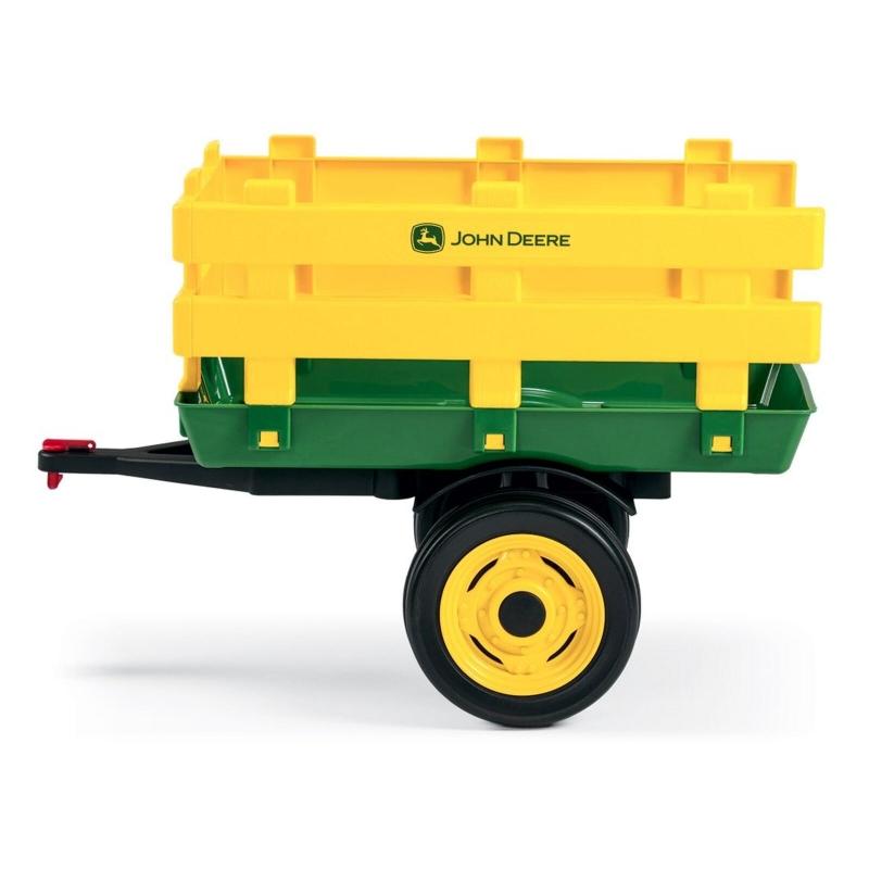 Peg Perego John Deere Stake Side Trailer- Green & Yellow