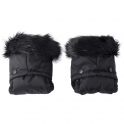 Clair De Lune Universal Pushchair/Pram Faux Fur Mittens-Black