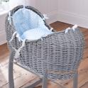 Clair De Lune Noah Pod Dimple Basket-Blue