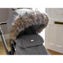 Clair De Lune Universal Pushchair/Stroller Faux Fur Hood- Grey/Brown