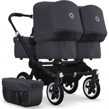 Bugaboo Donkey2 Twin Pushchair-Steel Blue/Black