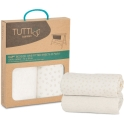 Tutti Bambini CoZee Bedside Crib Fitted Sheets 2 Pack-Neutral/Pebble