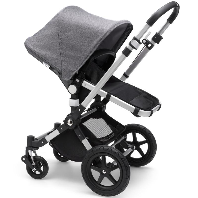 Bugaboo Cameleon3 Plus Pushchair in Aluminium Chassis-Grey Melange