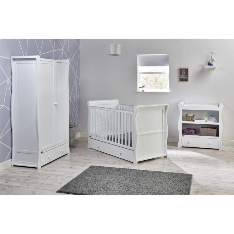 East Coast Nebraska Cot Bed 3 Piece Room set-White