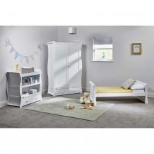 East Coast Nebraska Toddler Bed 3 Piece Room set-White