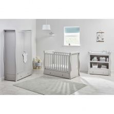 East Coast Nebraska Cot Bed 3 Piece Room set-Grey
