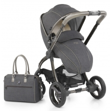 egg® Special Edition Stroller With Changing Bag & Seat Liner-Pewter Grey