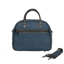 iCandy Peach Changing Bag & Hook-Navy Check