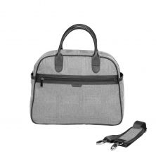 iCandy Peach Changing Bag & Hook-Light Grey Check