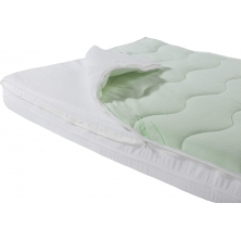 Kiddies Kingdom Cot Bed Aloe Vera Pocket Sprung Mattress 140cm x 70cm