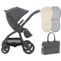 egg® Special Edition Stroller With Changing Bag & Seat Liner-Quantum Grey