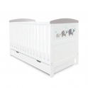 Ickle Bubba Coleby Style Cot Bed & Under Drawer- Elephant Grey