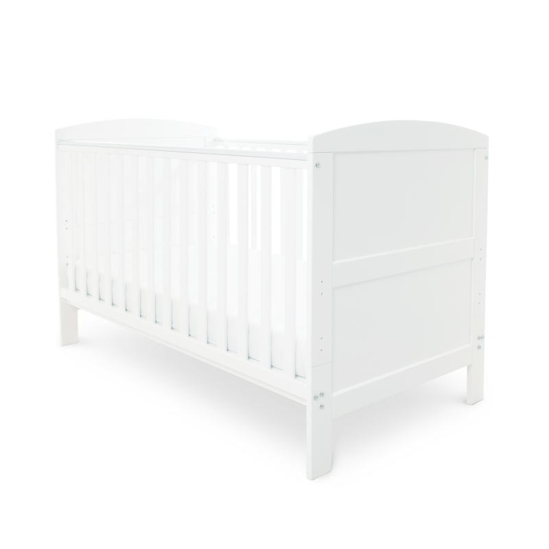 Ickle Bubba Coleby Cot Bed & Pocket Sprung Mattress- White