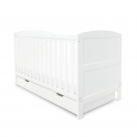 Babyhoot Coleby Cot Bed & Under Drawer- White
