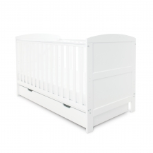 Ickle Bubba Coleby Cot Bed & Under Drawer- White