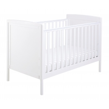 Babymore Milo DROPSIDE Cot Bed-White