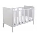 Babymore Milo DROPSIDE Cot Bed-Grey