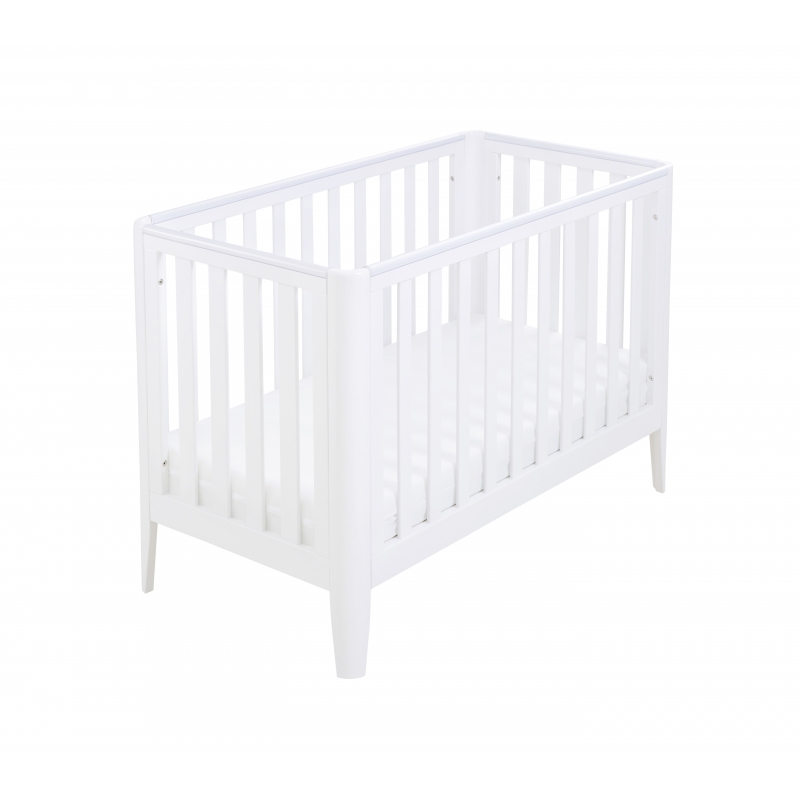 Babymore Iris Cot Bed-White