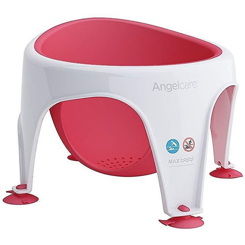 Angelcare Soft Touch Baby Bath Seat- Red