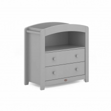 Boori Curved 2 Drawer Chest Changer-Pebble (New 2020)