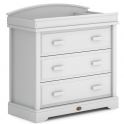 Boori 3 Drawer Dresser with Squared Changing Station-Barley White (2021)