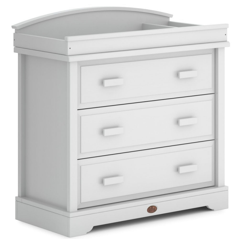 Boori 3 Drawer Dresser with Squared Changing Station-Barley White (New 2020)