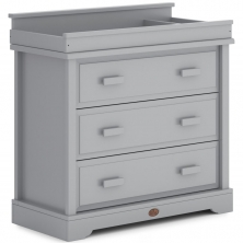 Boori 3 Drawer Dresser with Squared Changing Station-Pebble (2021)