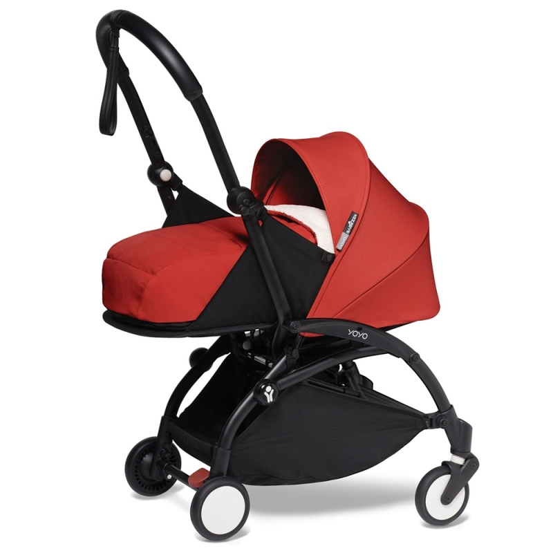 BABYZEN YOYO² Black Frame Newborn Package-Sherpa Red (New)