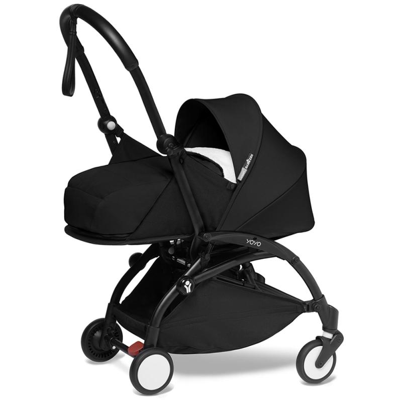 BABYZEN YOYO 2 Black Frame Newborn Package-Sherpa Black (New)