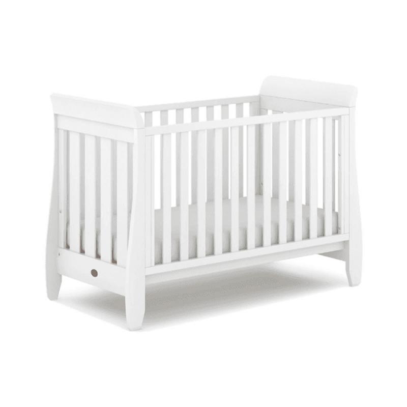 Boori Urbane Sleigh Cot Bed-Barley White (2021)
