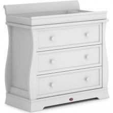 Boori Sleigh 3 Drawer Dresser with Sleigh Changing Station-Barley White (2021)