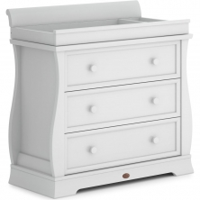 Boori Sleigh 3 Drawer Dresser with Sleigh Changing Station-Barley White (New 2020)