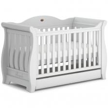 Boori Sleigh Royale Cot Bed-Barley White (New 2020)