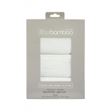 Little Bamboo 3 Pack Towelling Washers Pack