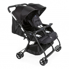 Chicco Ohlala Twin Stroller-Black Night
