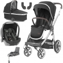 BabyStyle Oyster 3 Mirror Finish Essential Travel System-Caviar