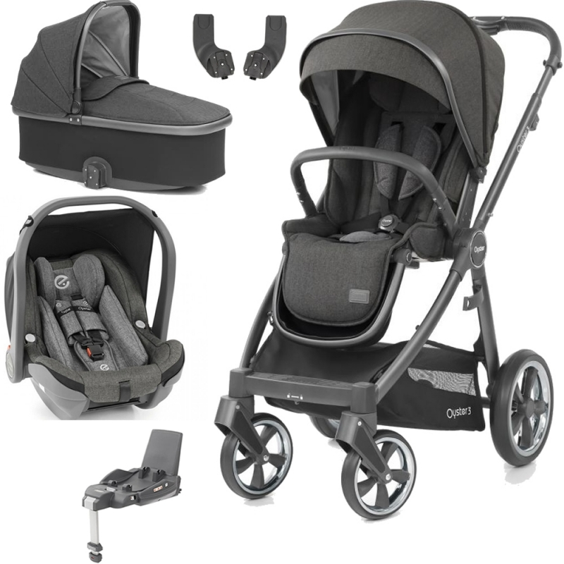 BabyStyle Oyster 3 City Grey Finish Essential Travel System-Pepper