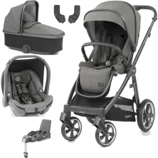 BabyStyle Oyster 3 City Grey Finish Essential Capsule Travel System-Mercury